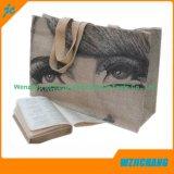 Sacs de transporteur 100% normaux réutilisables de tissu de textile de coton de promotion