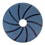 Novo tipo 4 roda de lustro da borda da resina das etapas para o granito e o mármore