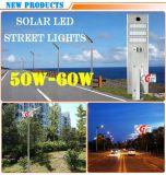 Indicatore luminoso di via solare esterno della PANNOCCHIA LED 50 W di alto lumen