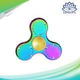 Magisches LED-Metallregenbogen-Handunruhe-Spinner-Spielzeug mit Bluetooth Lautsprecher-Musik-Spinner-Spielzeug