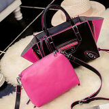 OEM Sy8095 de Guangzhou Factory de sac à main de créateur de femmes de couleur de contraste de mode de Madame Bag Set