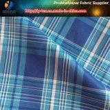Tela teñida 100% de Shirting de los hilados de polyester en el melocotón para la ropa (YD1112)