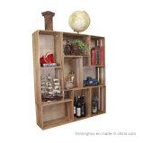 スタック可能旧式な様式の木枠の装飾的な棚付けの収納箱