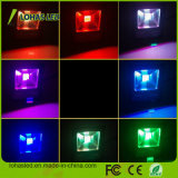 Waterproof IP65 50W Controle Remoto RGB Coloring Changing LED Floodlight