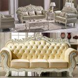 Il sofà di cuoio classico per la mobilia del salone ha impostato (D929L)