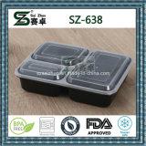 최고 급료 사각 3compartment 처분할 수 있는 플라스틱 음식 콘테이너