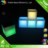 Silla del cubo de los muebles LED del vector que brilla intensamente LED