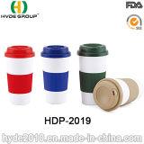 Einzelne Wand-Kaffeetasse mit Silikon-Band und Kappe (HDP-2019)