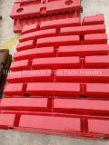 Hohe Mangan-Abnützung zerteilt Kiefer-Zerkleinerungsmaschine-Platten