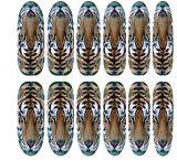 3D 표범 호랑이 고양이 전사술 물 못 예술 스티커 못 스티커