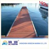 Decking en plastique en bois du composé WPC de prix usine dans Guangzhou