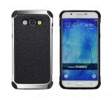 Caixa de couro do telefone do plutônio da textura rica clássica para Samsung J7