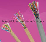 4 verdrehte Paar-Ethernet-Kabel LAN-Kabel CAT6 mit Plattfisch-Durchlauf