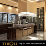 台所家具の光沢度の高い食器棚Tivo-0038Vをカスタム設計しなさい