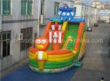 安く膨脹可能な海賊船のスライド、動物の主題の子供のスライド