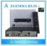 Trois cadre intelligent du système d'exploitation linux TV des tuners Enigma2 Zgemma H5.2s plus support H. 265 Hevc de DVB-S2 + de DVB-S2/S2X/T2/C