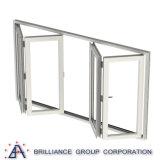 Portas Bifold interiores impermeáveis porta interna de dobramento geada com As2208