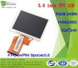 """3.5 """" étalage de TFT LCD de 320*240 RVB 24bit, IC : Hx8238d, FPC 54pin pour la position, sonnette, médicale, véhicules"""