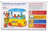 Brinquedo colorido educacional plástico do bebê do carro do gelado dos miúdos