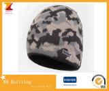 Jacquard feito sob encomenda chapéu feito malha do esqui do inverno para o esporte