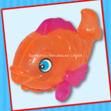 Jouet en plastique de poissons de Flsh avec la sucrerie