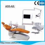 Silla dental de cuero real de OEM y ODM con sensor de luz LED