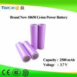Alta qualidade da bateria do Li-íon 18650 do preço do competidor 3.7V 2500mAh da capacidade total