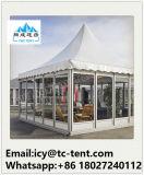 Barraca transparente resistente do Pagoda do vento de alumínio ao ar livre do frame para o casamento do partido