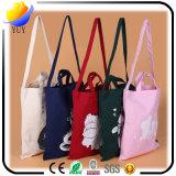 Bolso de compras plegable colorido no tejido superior del grado y bolso impreso de encargo promocional del regalo