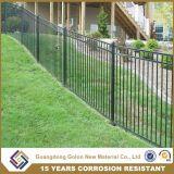 粉の上塗を施してある装飾用の錬鉄の小さい庭の塀