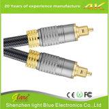 Cable óptico de alta calidad de metal del enchufe de Toslink