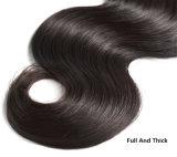 Prolonge brésilienne de travail de cheveu d'onde de corps de produits capillaires, paquets libres d'armure de cheveux humains de la Vierge 8A d'embrouillement brésilien de cheveu