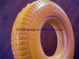 Rotella libera piana della gomma piuma di poliuretano della gomma 4.00-8 della gomma piuma dell'unità di elaborazione della gomma della carriola