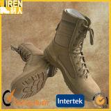 Veloursleder-Kuh-Lederhochwertige Mens-Sicherheits-Schuh-beige Militärwüsten-Aufladungen