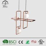 Iluminação de suspensão moderna do metal o mais novo da lâmpada do pendente da esfera de vidro dos projetos para o projeto