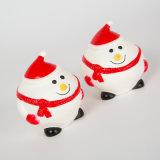 WeihnachtsSchneemann-Form-Hundevinylspielzeug-Haustier-quietschendes Spielzeug