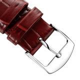 La alta calidad mira la correa de cuero genuina, correa de cuero con la hebilla del acero inoxidable 316L