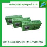 カスタム緑の折られた装飾的な表示紙箱