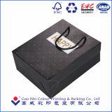 Bolsa de papel del regalo de la impresión de la insignia del surtidor de la fábrica de China con las manetas