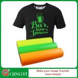Vinyl van de Overdracht van de Hitte van pvc van de Schil van Qingyi het Gemakkelijke voor T-shirt