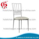 Белый обедая стул металла стула деревенский для напольного уклада жизни