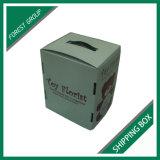 De glanzende Witte GolfDoos van het Karton voor het Verschepen en van de Verpakking Levering voor doorverkoop