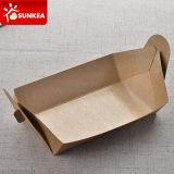 Dispsoable ninguna bandeja del papel impresa aduana plegable pegamento del alimento