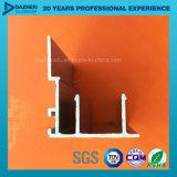 Profil en aluminium de couche de poudre pour le tissu pour rideaux de cadre de porte de guichet de la Libye avec le bronze anodisé