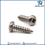 304 / 18-8 en acier inoxydable plaque carrée tête de tôle de vis en métal