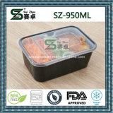 950ml verdicken freien Wegwerfplastiknahrungsmittelbehälter mit innerem Tellersegment