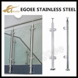 Diseño de cristal del pasamano del acero inoxidable del balcón de la alta calidad, pasamano de cristal del balcón