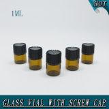 1ml пробирка бутылочного стекла стекла запечатывания редуктора отверстия 1/я ДРАХМ малая янтарная