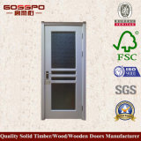 Porta de madeira da cozinha interior do vidro geado (GSP3-040)