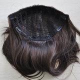 까만 색깔 100% 인간적인 처리되지 않은 Virgin 머리 가득 차있는 급료 머리 머리 피스